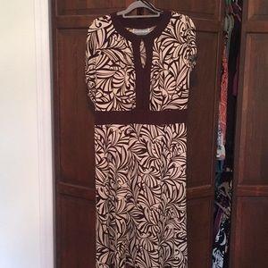 Jessica Howard woman brown & tan fall dress